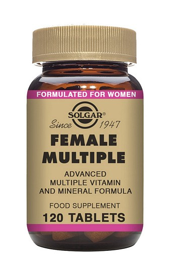 Solgar Female Multiple Multivitamin 120 Tablets Multivitamins > Female Multiple Multivitamin