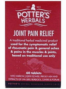 Potter's Joint Pain Relief (Tabritis) 60 Tablets Joint and Bone Health > Joint Pain Relief