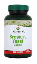 Natures Aid Brewer's Yeast 300mg 500 tablets Health Supplements > Brewers Yeast