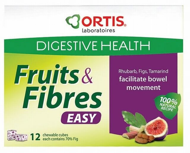 Ortis Ortisan Fruits and Fibre 12 Cubes Bowel Health > Ortisan Fruit Cubes  & Tablets