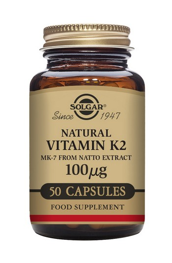 Solgar Vitamin K2 100 mcg 50 Vegetable Capsules Vitamins > Vitamin K