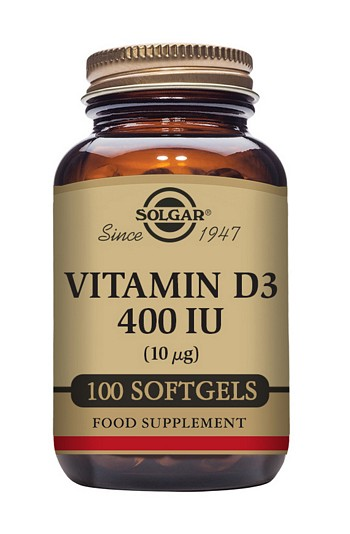 Solgar Vitamin D3 400 iu 100 Softgels Joint and Bone Health > Vitamin D3