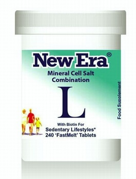 New Era Combination L 240 Tablets - BULK OFFER! New Era Tissue Salts > Combination L