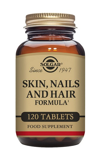 Solgar Skin, Nails and Hair Formula 120 Tablets Hair, Skin and Nails> Skin, Nails and Hair Formula