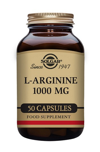 Solgar L-Arginine 500 mg 50 Vegetable Capsules Amino Acids > L-Arginine