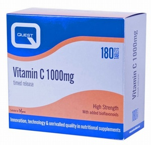 Quest Vitamin C 1000mg Timed Release 180 Tablets - SPECIAL OFFER Vitamins > Vitamin C / Bioflavonoids