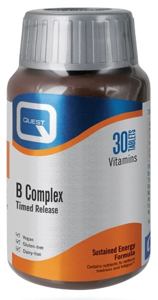 Quest Mega B 100 B Complex Timed Release 30 Tablets - SPECIAL OFFER! Vitamins > B Complex