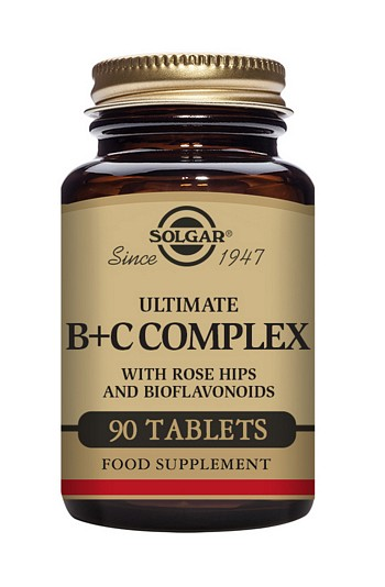 Solgar Ultimate B+C Complex 90 Tablets Vitamins > B And C Complex