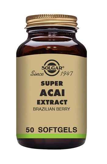 Solgar Super Acai Extract 3000 mg 50 Softgels Health Supplements > Acai Berry Extract