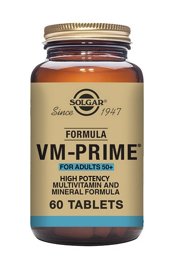 Solgar VM Prime Over 50's 60 Tablets Multivitamins > VM Prime Tabs Multivitamin/Mineral
