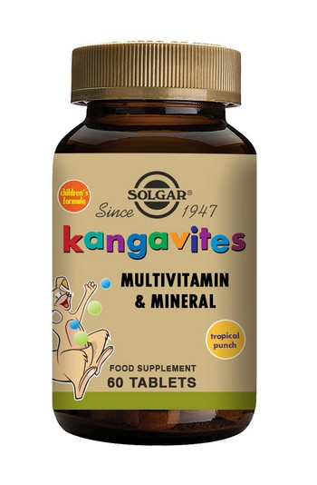 Solgar Kangavites Children's Multivitamin Chewable 60 Tablets Tropical Punch Childrens Health > Kangavites - Childrens Multivitamin (Chewable)