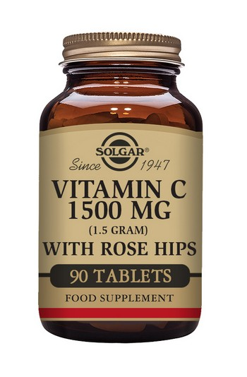 Solgar Vitamin C 1500 mg with Rose Hips 90 Tablets