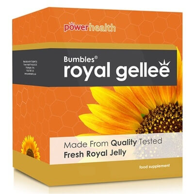 Power Health Bumbles Royal Gellee 500mg 60 Capsules Health Supplements > Royal Jelly (Gellee )