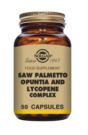 Solgar Saw Palmetto Opuntia Lycopene Complex 50 Vegetable Capsules Herbal Supplements > Saw Palmetto