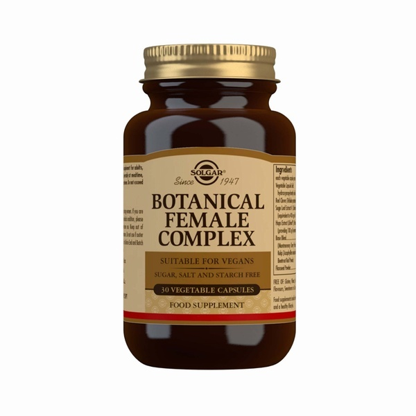 Solgar Botanical Female Complex 30 Vegetable Capsules Womens Health > Botanical Female Complex