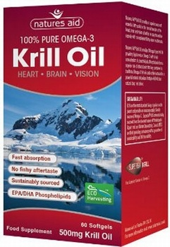 Natures Aid Krill Oil 500 mg 60 Softgels - SPECIAL OFFER! Essential Fatty Acids > Krill Oil