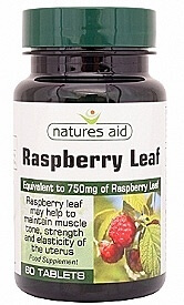 Natures Aid Raspberry Leaf 375mg 60 Tablets Herbal Supplements > Raspberry Leaf