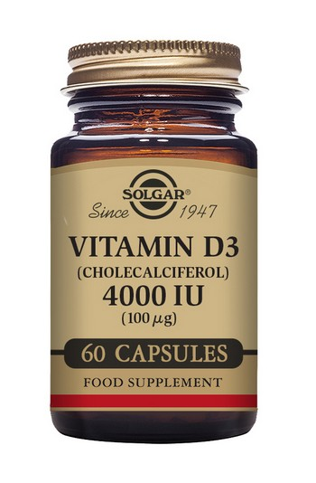 Vitamin D3 4000 IU 60 Vegetable Capsules Vitamins > Vitamin D3