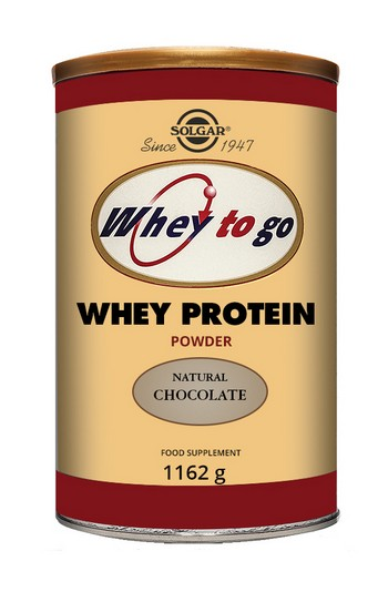 Solgar Whey To Go Whey Protein Powder Natural Chocolate Flavour 1162g Protein > Solgar Whey to Go