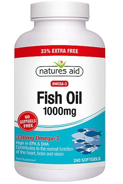 Natures Aid Fish Oil Omega-3 1000mg 270 Capsules - SPECIAL OFFER!