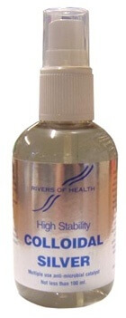 Rivers Of Health Colloidal Silver 100ml Minerals > Colloidal (Active ) Silver