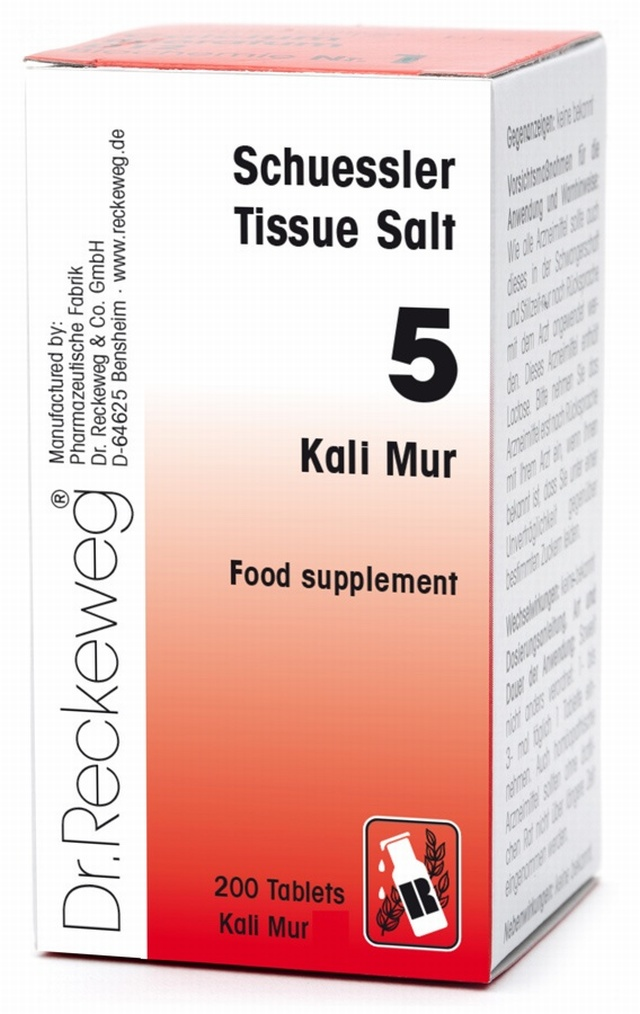 Schuessler Kali Mur No. 5 - 200 tablets - BULK OFFER! Schuessler Tissue Salts > Kali Mur 5