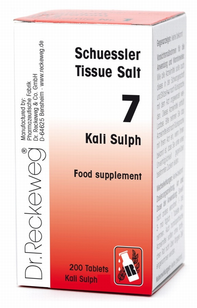 Schuessler Kali Sulph No. 7 - 200 tablets - BULK OFFER! Schuessler Tissue Salts > Kali Sulph 7