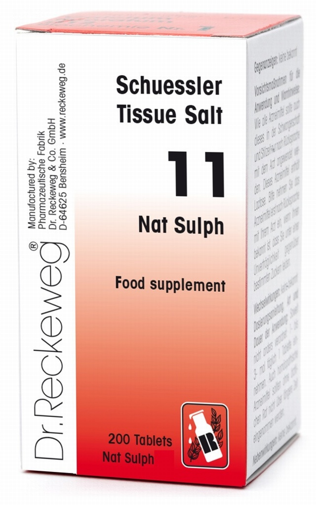Schuessler Nat Sulph No. 11 - 200 tablets - BULK OFFER! Schuessler Tissue Salts > Nat Sulph 11