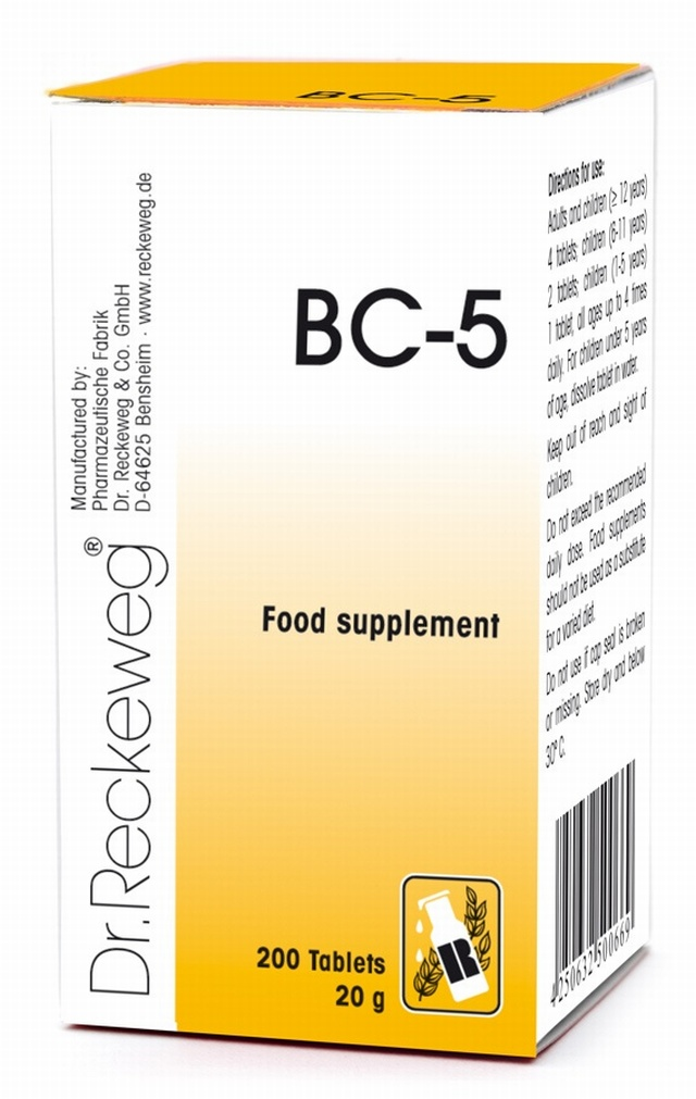 Schuessler BC-5 200 Tablets - BULK OFFER! Schuessler Tissue Salts > Combination BC 5