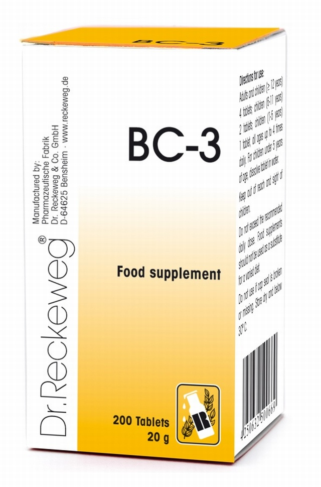 Dr Reckeweg BC-3 200 Tablets - BULK OFFER! Schuessler Tissue Salts > Combination BC 3