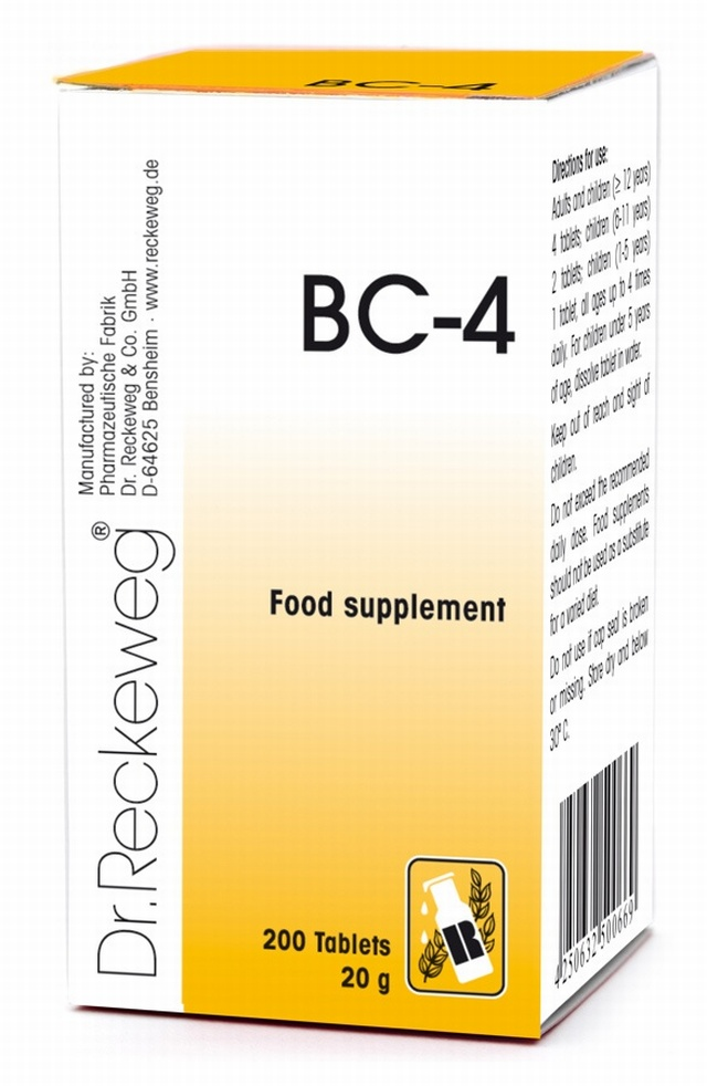 Dr Reckeweg BC-4 200 Tablets - BULK OFFER! Schuessler Tissue Salts > Combination BC 4