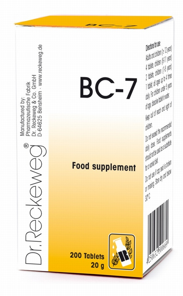 Dr Reckeweg BC-7 200 Tablets - BULK OFFER! Schuessler Tissue Salts > Combination BC 7