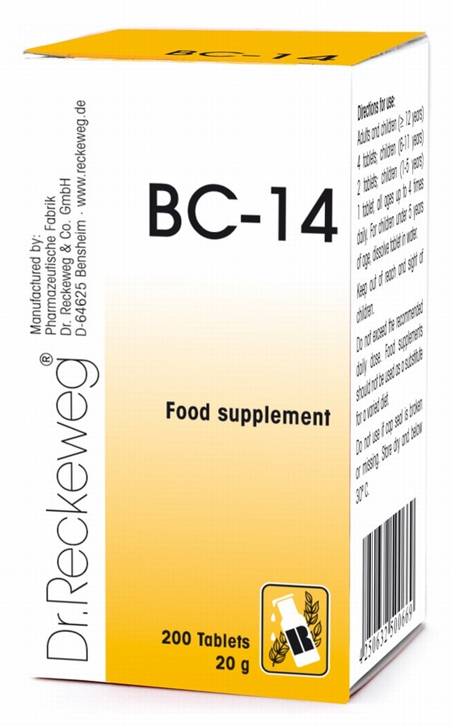 Dr Reckeweg BC-14 200 Tablets - BULK OFFER! Schuessler Tissue Salts > Combination BC 14