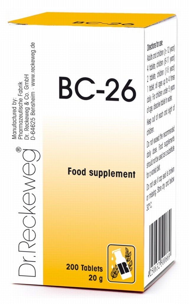 Dr Reckeweg BC-26 200 Tablets - BULK OFFER! Schuessler Tissue Salts > Combination BC 26