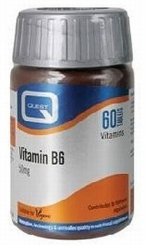 Quest Vitamin B6 50mg 60 Tablets Vitamins > Vitamin B6 (Pyridoxine)