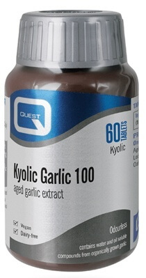 Quest Odourless Kyolic Garlic 100 mg Extract 60 Tablets Colds and Flu > Garlic