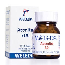 Weleda Aconite 30C 125 Tablets Homeopathic Remedies > Aconite: Colds, fear, shock