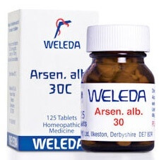 Weleda Arsen Alb 30C 125 Tablets Homeopathic Remedies > Arsen alb: Vomiting, stomach upsets