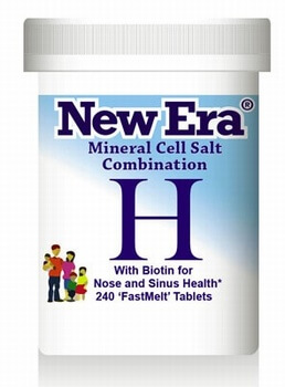 New Era Combination H Hayfever 240 Tablets New Era Tissue Salts > Combination H