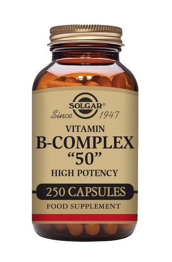 Solgar B Complex 50 mg 250 Vegetable Capsules