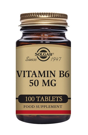 Solgar Vitamin B6 (Pyridoxine) 50 mg 100 Tablets