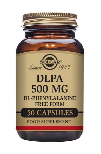 Solgar DLPA DL-Phenylalanine 500 mg 50 Vegetable Capsules