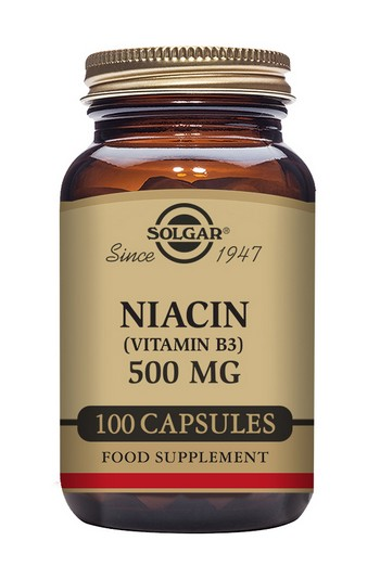 Solgar Niacin Vitamin B3 500 mg 100 Vegetable Capsules