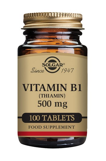 Solgar Vitamin B1 (Thiamin) 500 mg 100 Tablets