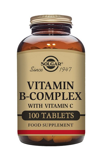 Solgar B Complex with Vitamin C 500 mg 100 Tablets