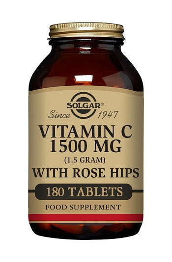 Solgar Vitamin C 1500 mg with Rose Hips 180 Tablets