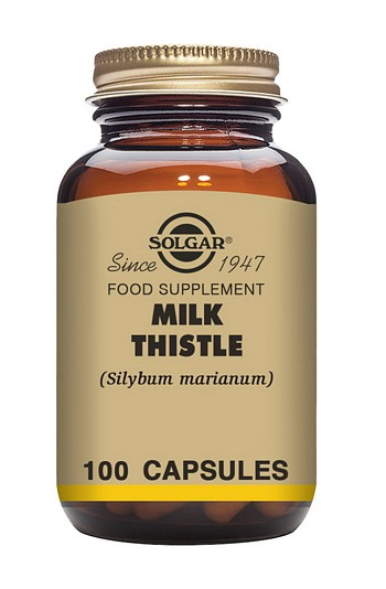 Solgar Milk Thistle 100 mg 100 Vegetable Capsules