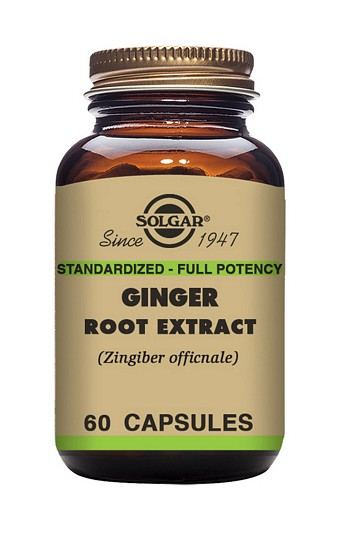 Solgar Ginger Root Extract 520 mg 60 Vegetable Capsules