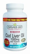Natures Aid Cod Liver Oil (High Strength) 1000 mg 90 Vegetable Capsules