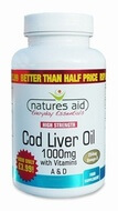 Natures Aid Cod Liver Oil (High Strength) 1000 mg 180 Capsules